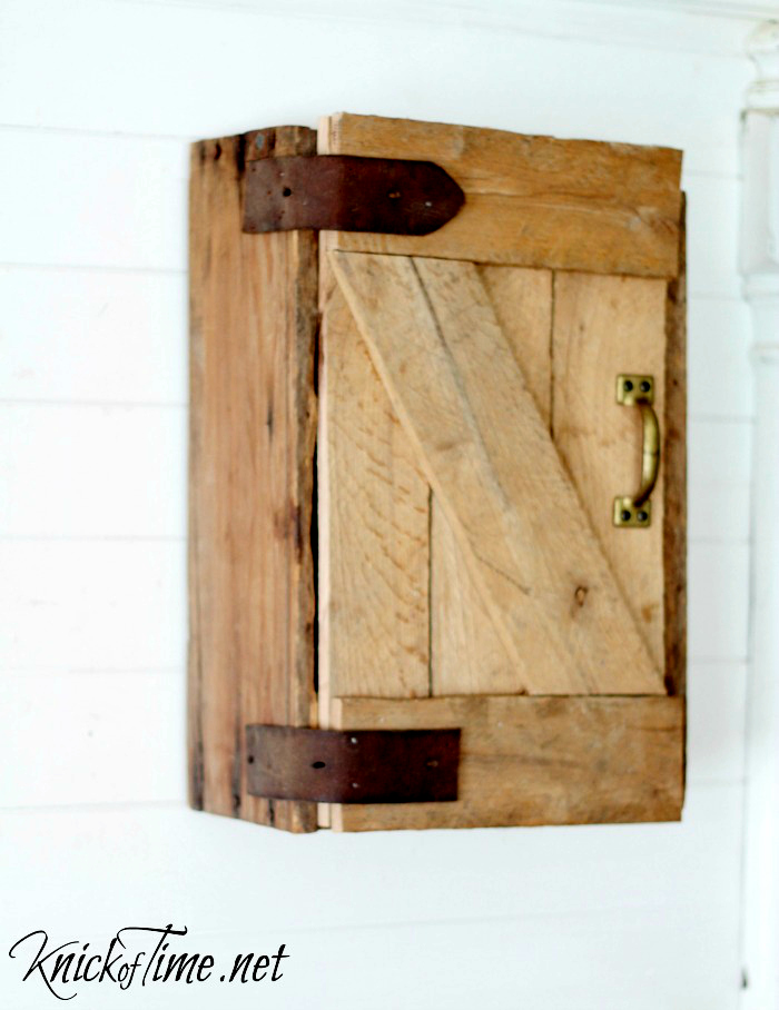 farmhouse barn door wall cabinet