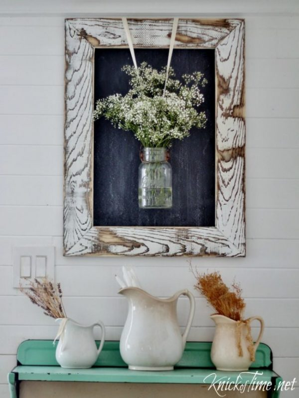 DIY Farmhouse Chalkboard with Rustic Wooden Frame | Knick of Time