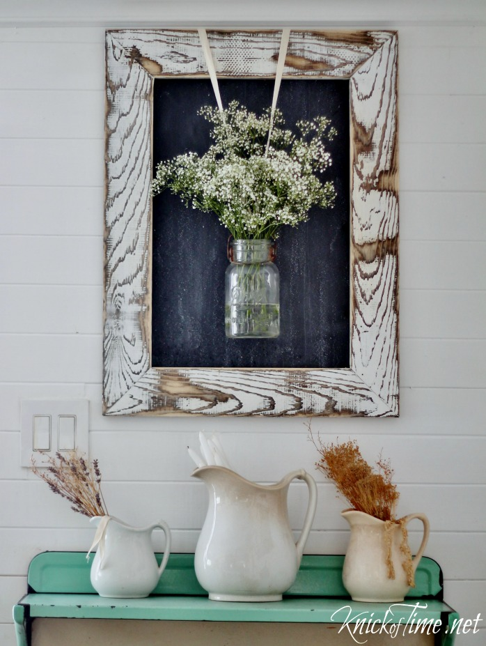 DIY Farmhouse Chalkboard with Rustic Wooden Frame Knick of Time