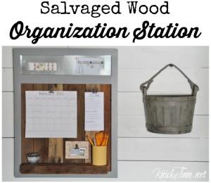Salvaged Wood Organization Station