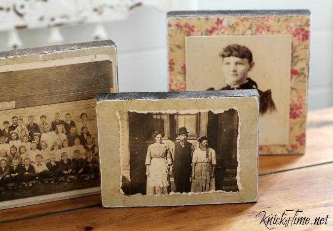 salvaged wood photo blocks