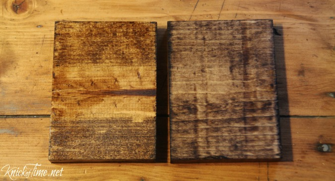 stained wood scraps