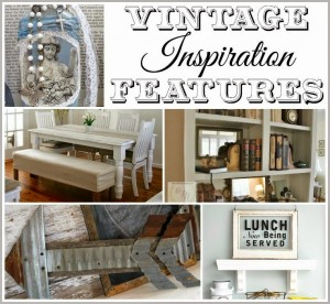 Vintage Inspiration Party #176 – Salvaged Metal Arrow, Signs & More