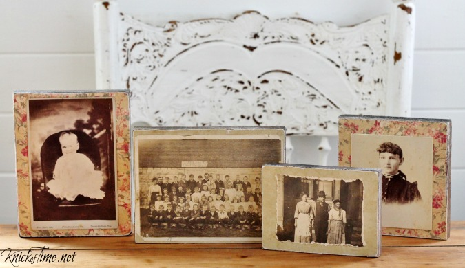 wood scrap photo blocks