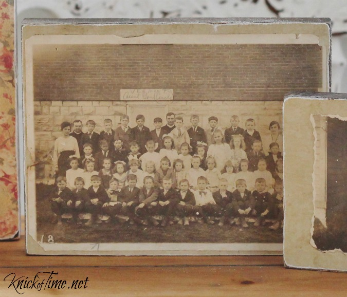 antique photograph wood blocks