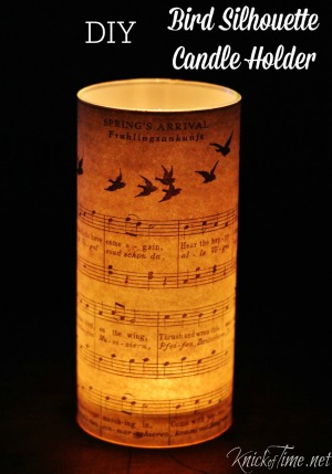 Silhouette Candle Holder