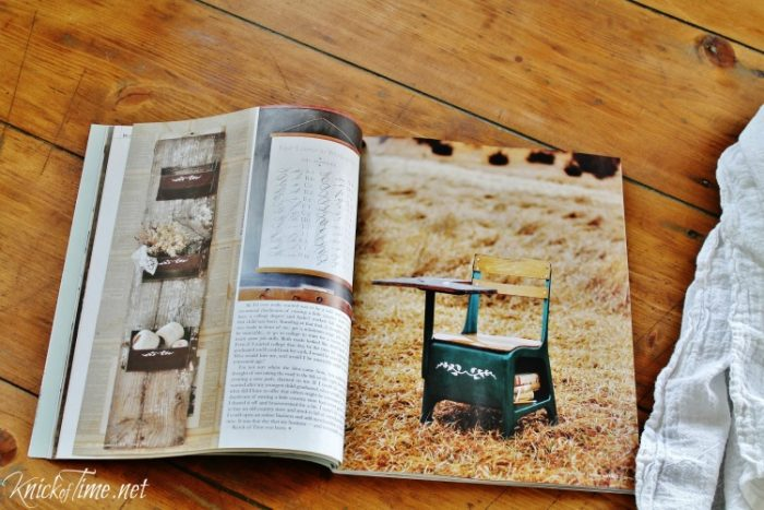 Farmhouse decor projects featured in feature Somerset Living Magazine| www.knickoftime.net