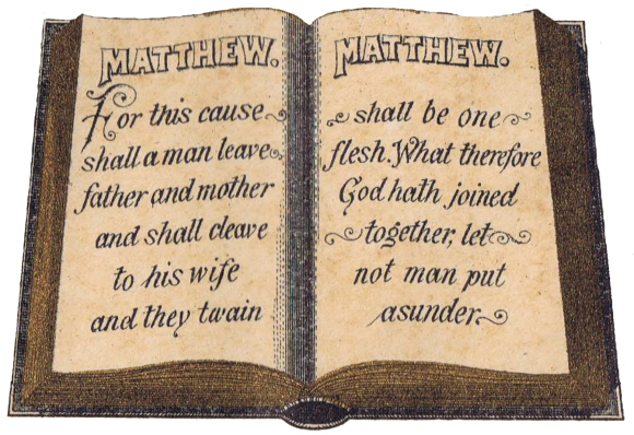 Marriage Certificate Bible Image
