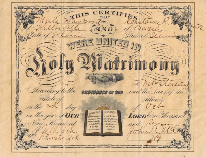 vintage wedding certificate  Vintage Wedding Clip Art Graphics via KnickofTime.net