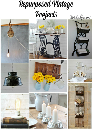 Repurposed Vintage Projects via KnickofTime.net