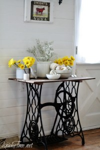 antique sewing machine table, plus things I love