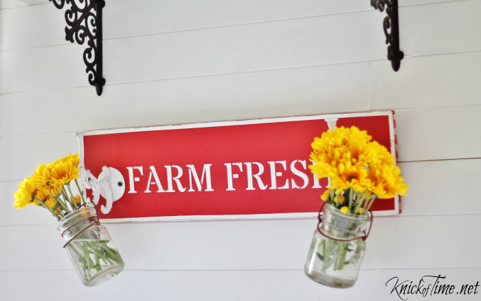 flower cart sign