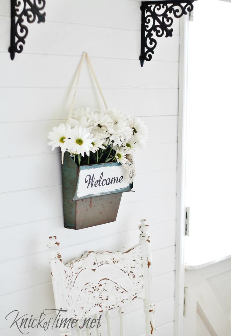 farmhouse decor repurposed vintage dustpan