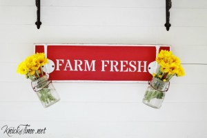 Salvaged Drawer Front Farm Sign