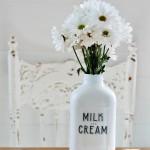 milk and cream company milk bottle