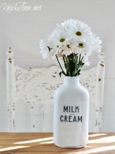 DIY Vintage Style Milk Bottles - KnickofTime.net