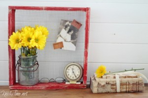 Rustic Nesting Crate Display