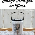 packing tape image transfer on glass via Knick of Time