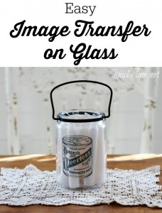Image Transfer on Glass