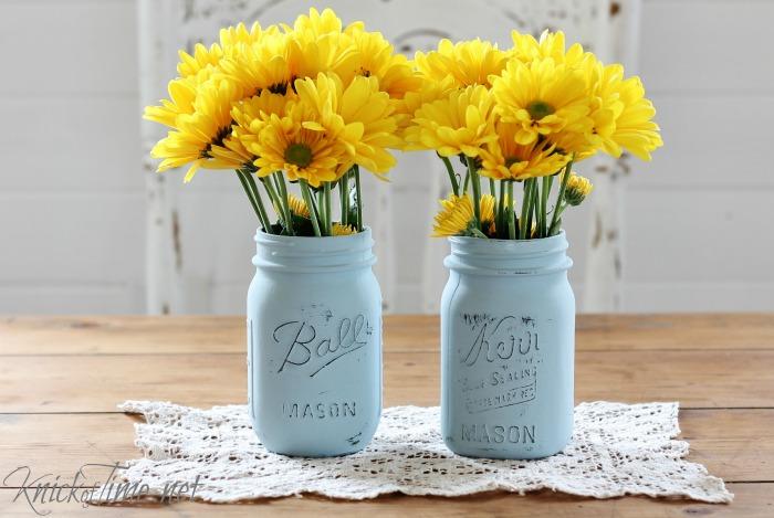 painted jars valspar chalky finish paint