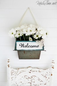 metal flower vase repurposed dustpan