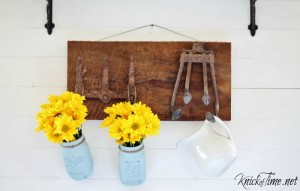 Repurposed Farm Tools Wall Hooks