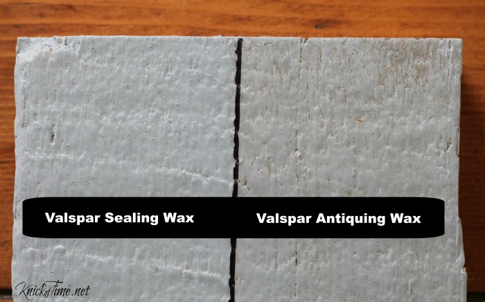 Valspar Sealing Wax and Antiquing Wax Product Review by Knick of Time - www.knickoftime.net