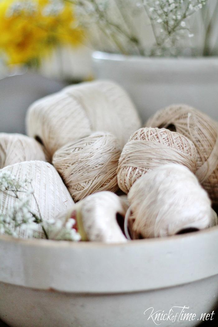 vintage crochet thread