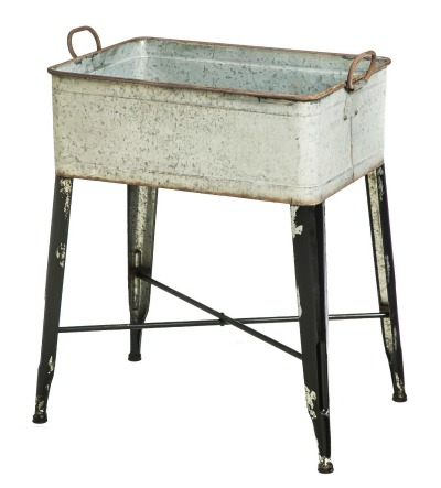 vintage metal wash tub