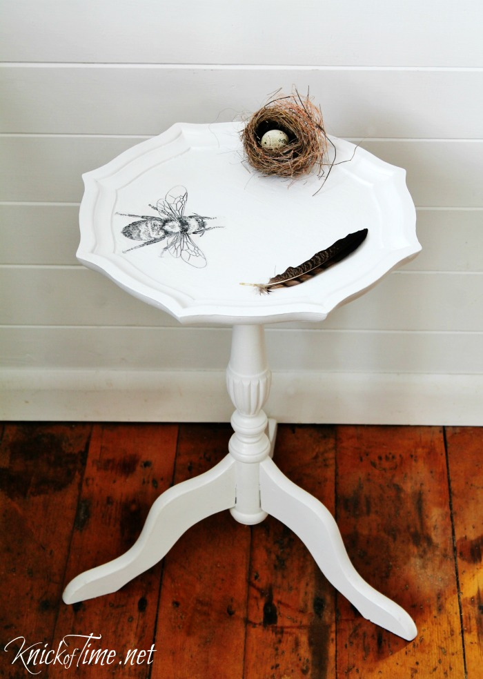 white plant stand accent table