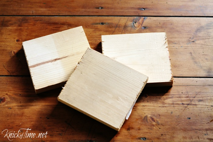 wood scrap table trivets