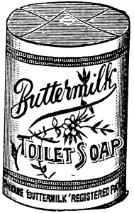 Vintage Advertisement Buttermilk Soap