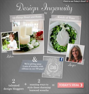 Decor Steals Design Ingenuity Event – Boxwood Wreaths