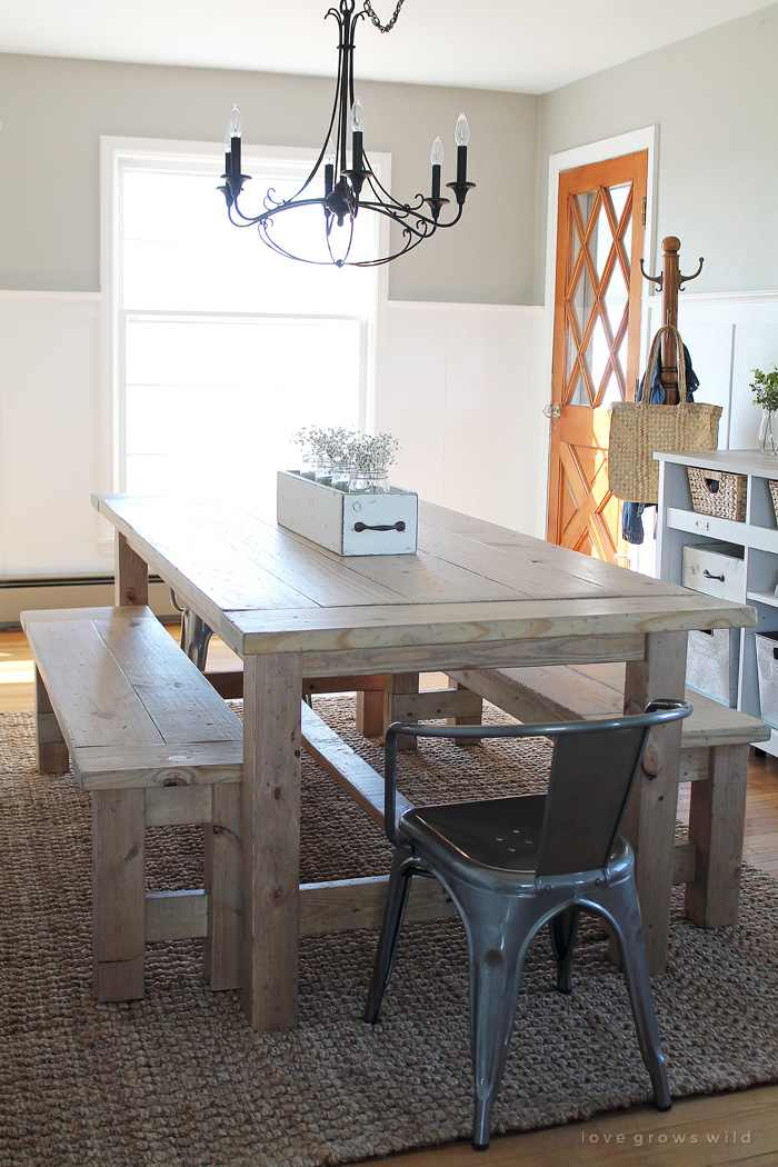 Farmhouse kitchen tables to diy with amazing farmhouse - Kitchen table building plans ...
