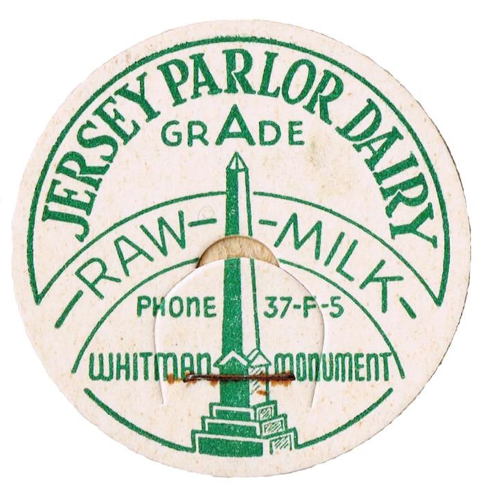 New Jersey dairy milk cap