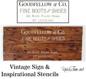 Introducing Knick of Time Vintage Sign Stencils!