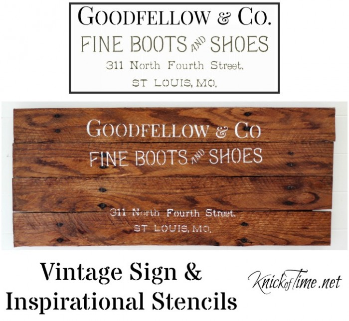 antique sign stencils
