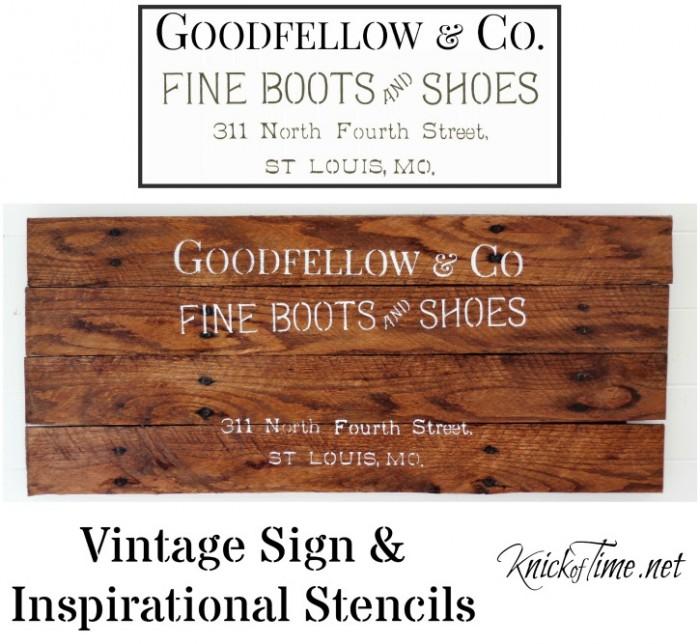 antique sign stencils