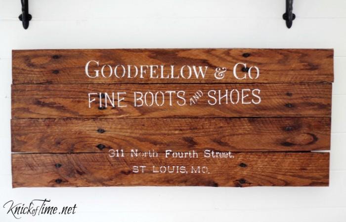 vintage signs stencil