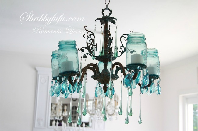 blue ball jars light