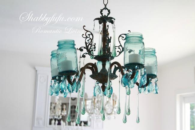 blue ball jars light