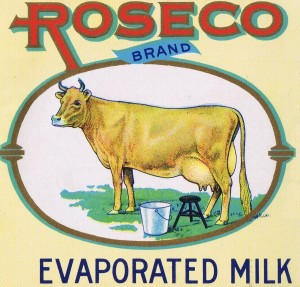 roseco vintage can label