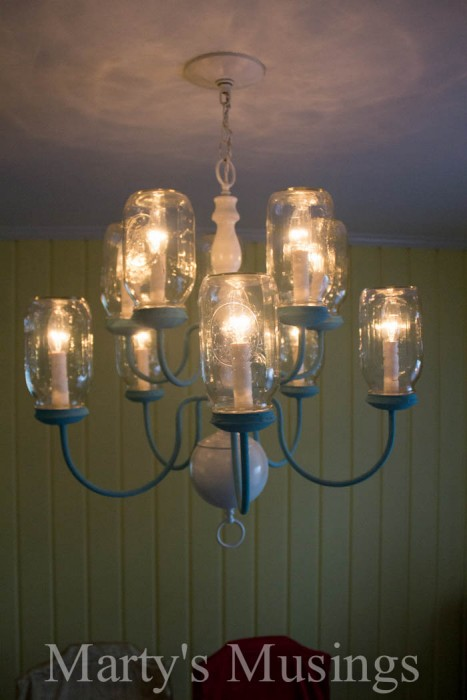 repurposed canning jars light