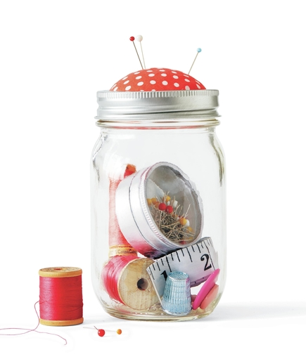 canning jar sewing kit