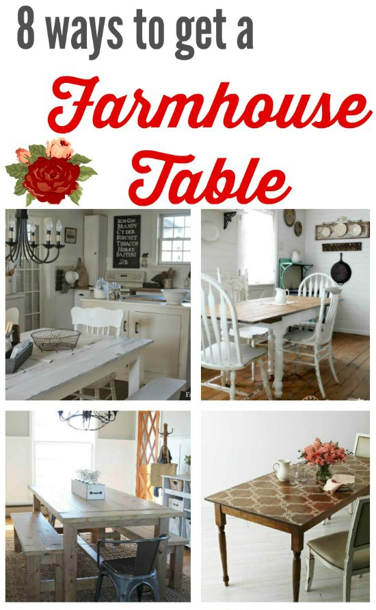 farmhouse kitchen tables - creative ways to build them, upcycle them, refinish them and buy them - KnickofTime.net