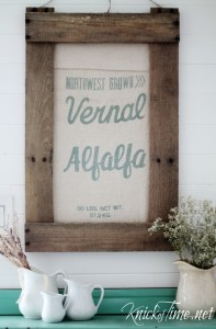 DIY Framed Vintage Seed Bag
