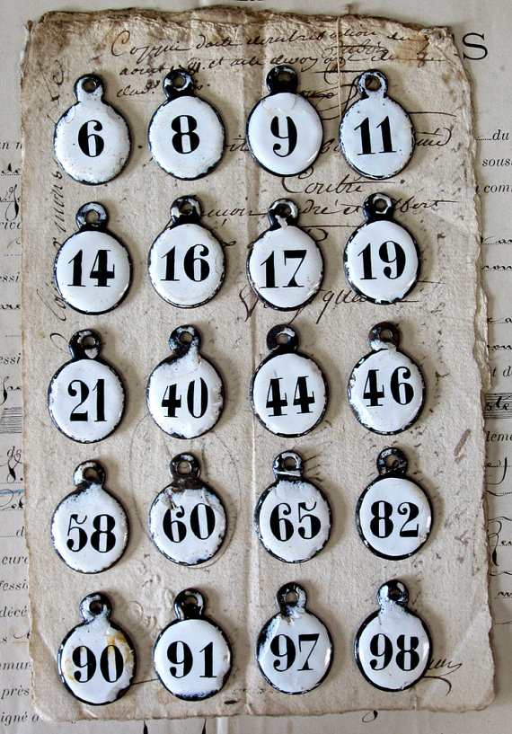 french hotel number key tags