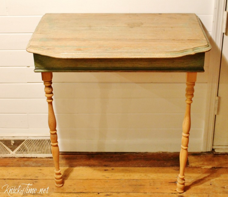 Repurposed Half Table into Nightstand Knick of Time