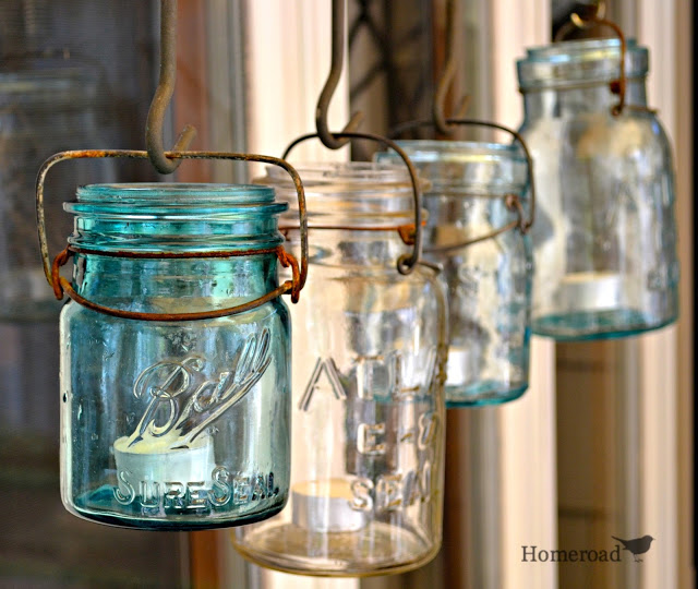 repurposed canning jars chandelier