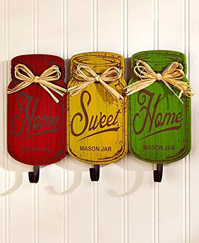 mason jar sign wall hooks